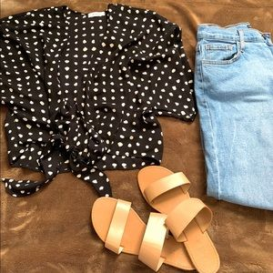 Prettylittlething dot knot top
